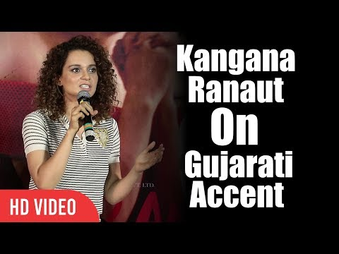 Kangana Ranaut Reaction On Her Gujarati Accent | Simran Official Trailer Launch