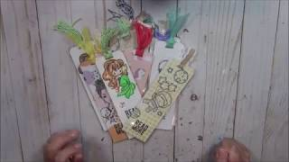 Craft with Me I DIY Bookmarks with Scraps of Paper to Donate