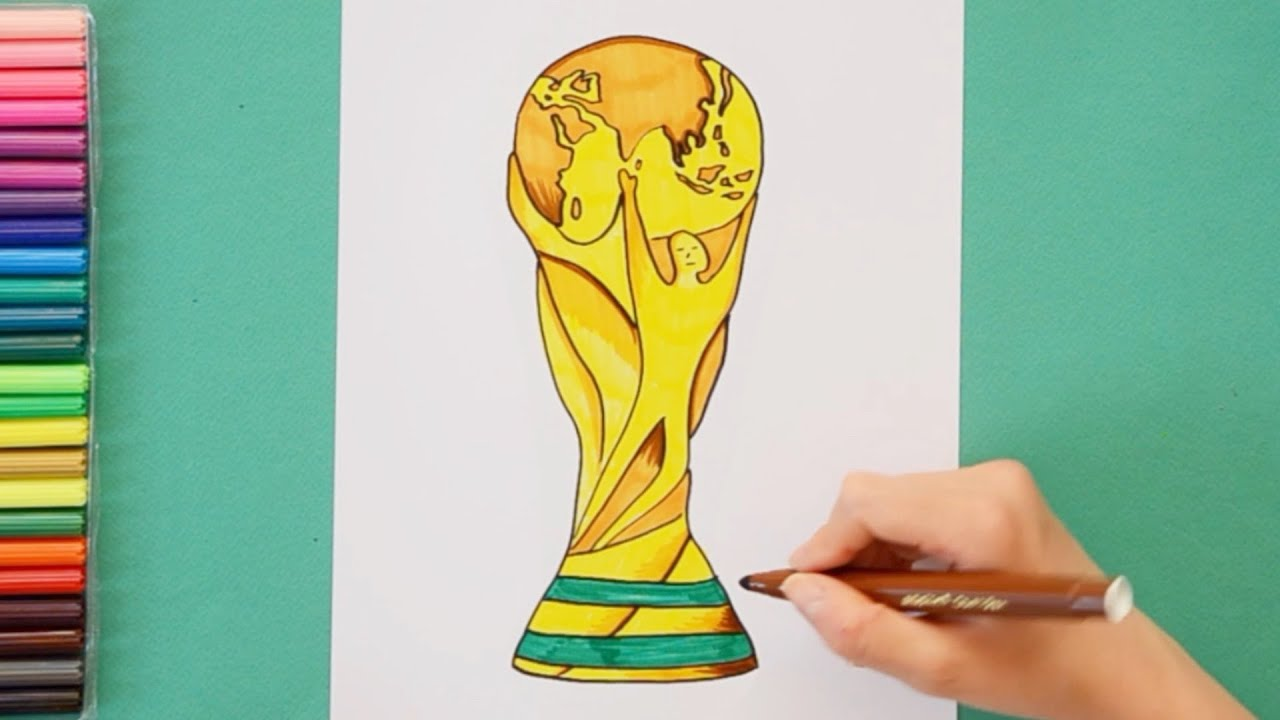 How To Draw And Color Fifa World Cup Trophy 2018 Youtube