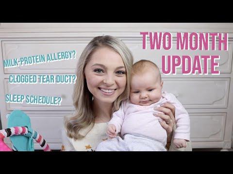 TWO MONTH BABY UPDATE: MILK PROTEIN ALLERGY (cmpa), SLEEP SCHEDULE, BREASTFEEDING