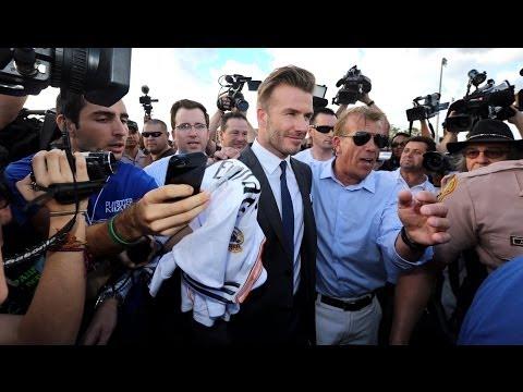 David Beckham greets fans at Kendall Soccer Park