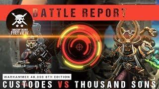 Download Video Warhammer 40,000 Battle Report: Adeptus Custodes vs Thousand Sons 2000pts MP3 3GP MP4