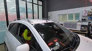 쉐보레 스파크 차량의 깨진  전면유리교체, 앞유리교환 …