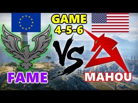 World of Tanks - EU vs NA - FAME vs MAHOU - GAME 4-5-6 - Cliff - Ruinberg thumbnail