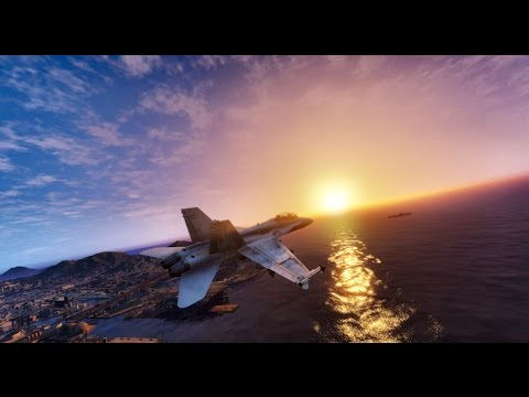 ► GTA 6 Graphics - FIGHTER JET F/A-18C Hornet MOD ✪ REDUX - Ultra Realistic Graphics 60 FPS