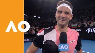 Grigor Dimitrov on-court interview   Australian Open 2020 (1R)