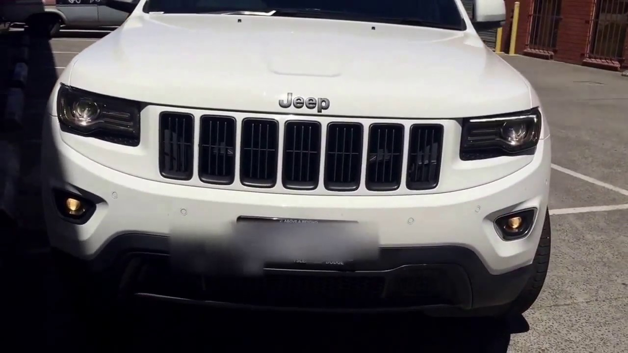 copy of jeep grand cherokee blacked out white hd youtube. Black Bedroom Furniture Sets. Home Design Ideas