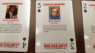 Oklahoma Prisons Selling Inmates Cold Case Playing Cards
