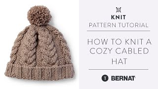 Knit A Cozy Hat With Beautiful Braided Cables   Knitting Pattern Tutorial  