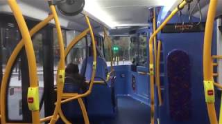 Rare electric Optare MetroDecker EV ride on route 134, OME2662