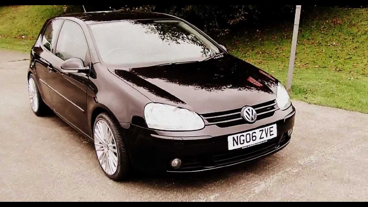 2006 vw golf gt tdi 140 3 dr man black 3 dr 140 bhp 6 spd 5995 youtube. Black Bedroom Furniture Sets. Home Design Ideas