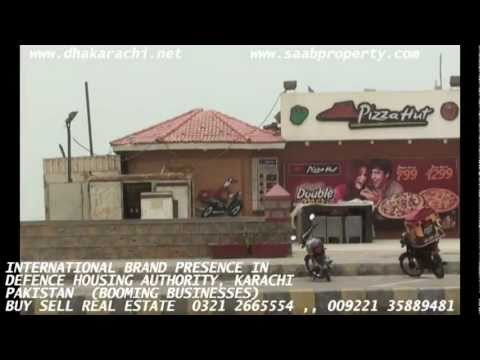 INTERNATIONAL COMMERCIAL BRANDS IN DHA KARACHI PAKISTAN DEFENCE HOUSING AUTHORITY REALESTATE
