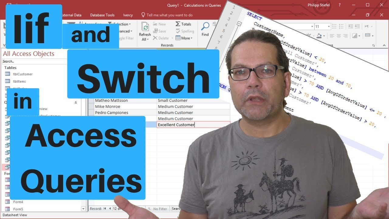 Iif and Switch in Access Queries