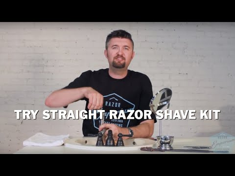 Try Straight Razor Shave Kit Tutorial: 208 Gold Dollar for Beginners