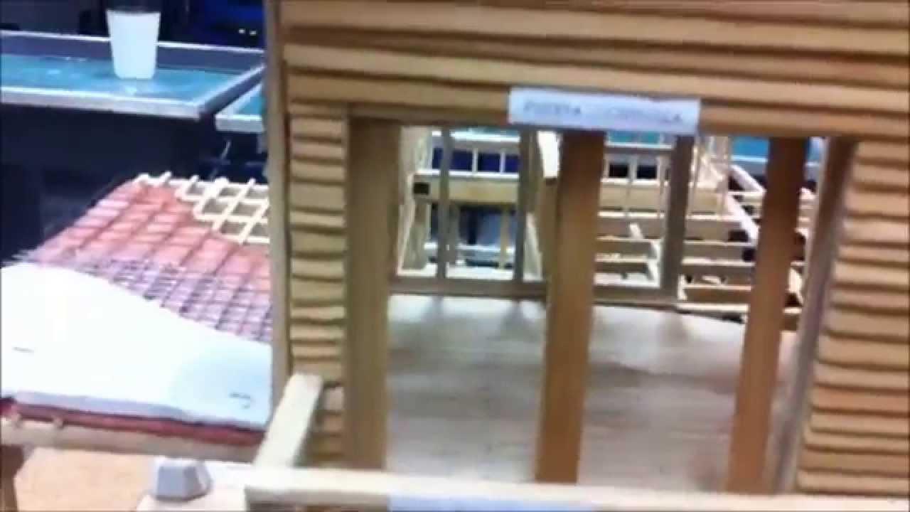 Maqueta Construccion En Madera Universidad Rafael Landivar Youtube