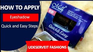 How to Apply Eyesнadow for Beginners at home | How to do Eyemackup at 4 Easy Steps