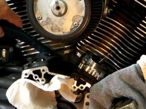 16. Harley cam chain tensioner replacement on a Twin Cam
