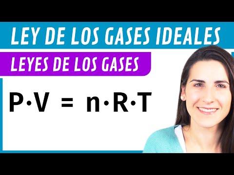 Ley de los GASES IDEALES 💨 Fórmula y problema