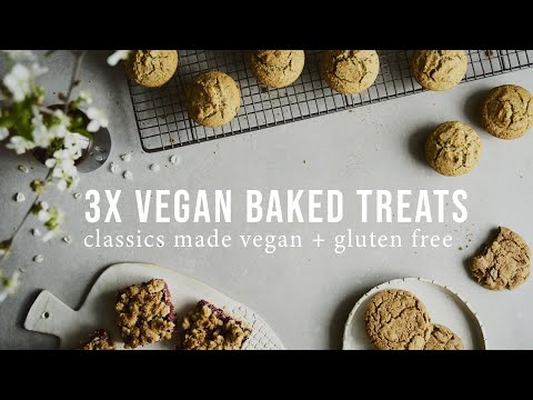 3 VEGAN AND GLUTEN-FREE BAKED TREATS: MUFFINS, COOKIES + CRUMBLE BARS | Good Eatings