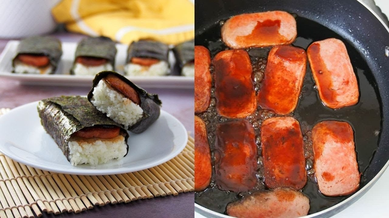 How To Make Hawaiian Spam Musubi Youtube