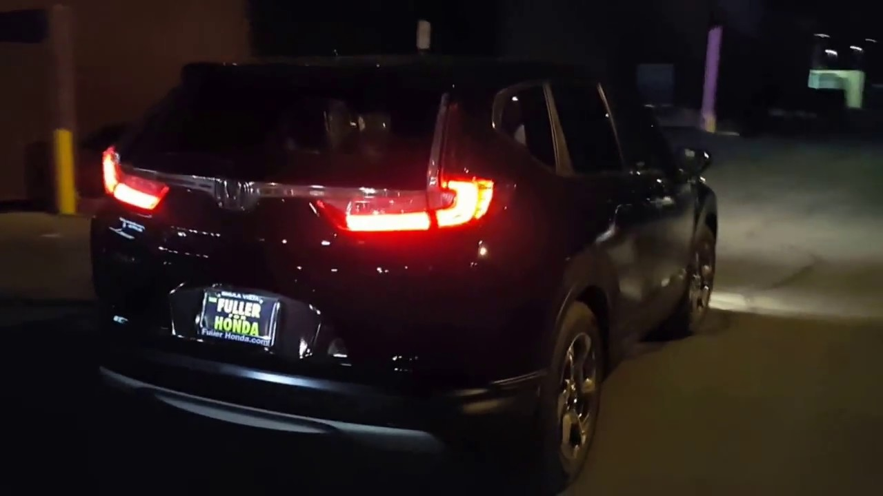2017 CRV Ex night drive POV - YouTube