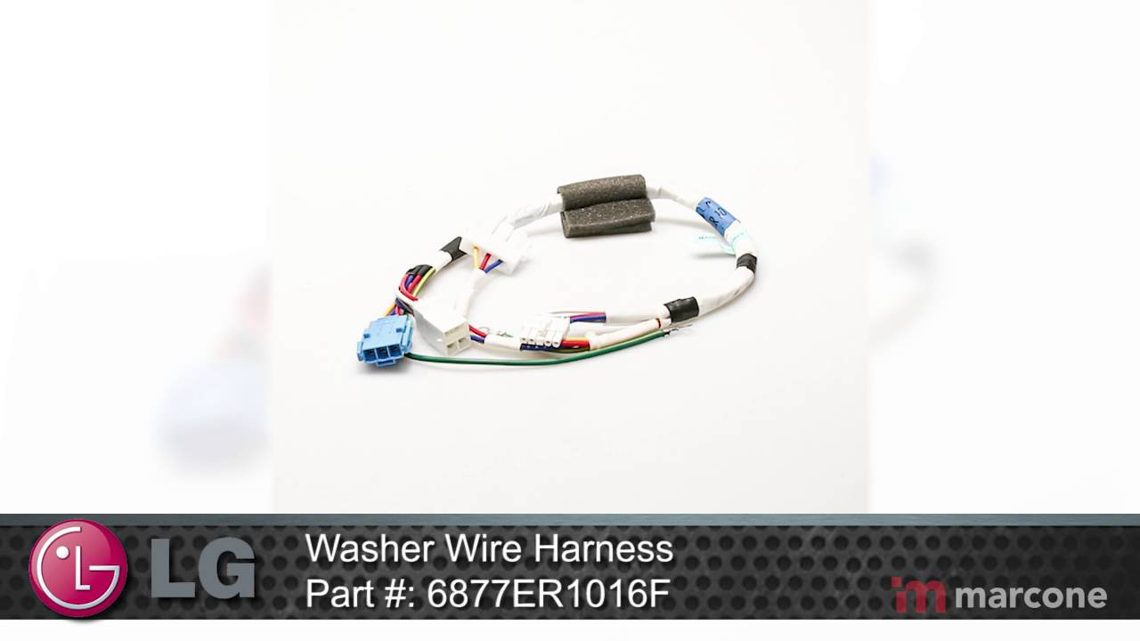 maxresdefault lg washer wire harness part 6877er1016f youtube Wire Harness Assembly at alyssarenee.co