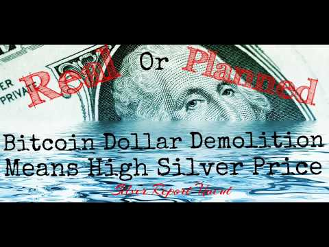 Why Bitcoin Dollar Demolition Means High Silver Price!