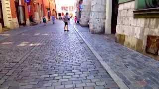 #25 Прогулка (велогонки) и поездка в трамвае - Краков, Польша(Видео о прогулке по Кракову. Велогонки, ярмарок, фестиваль.., 2014-09-08T01:27:46.000Z)