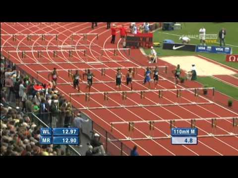 Xiang Liu 12,87 110m Hurdles Eugene Diamond League