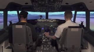 Lot zapoznawczy w symulatorze lotu – Warszawa video