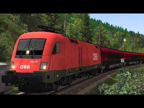 Railjet Taurus Rh1116 Innsbruck - Augsburg Führerstandsmitfahrt Train Simulator 2017