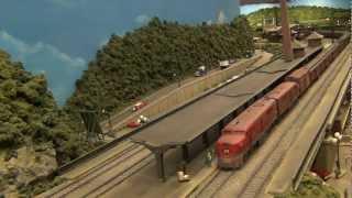 "Lehigh Valley Railroad ""Black Diamond"" at Easton Station (L&KV Model Railroad Museum)"