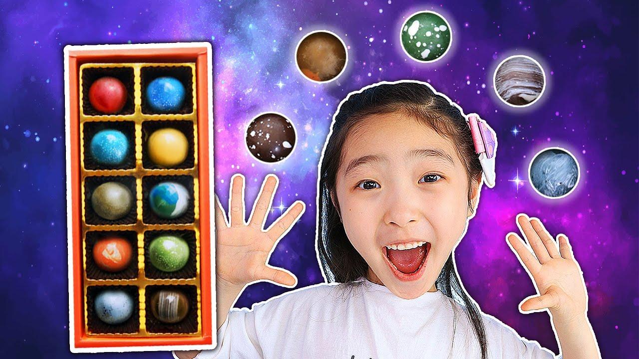 우주초콜릿 행성초콜릿!! 신기한 초콜릿 먹방 무슨 맛일까? Planet Chocolate MUKBANG 슈슈토이 Shushu ToysReview