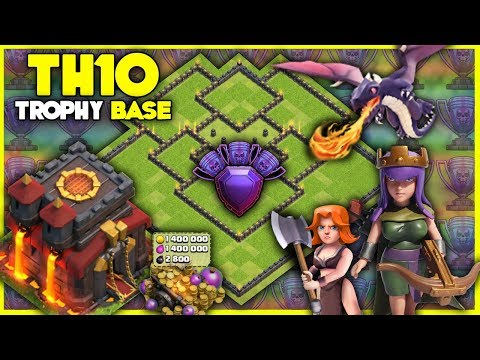 BEST Town Hall 10 [TH10] TROPHY BASE | W/ Replays | Anti 2 Star 2018 - Clash of Clans