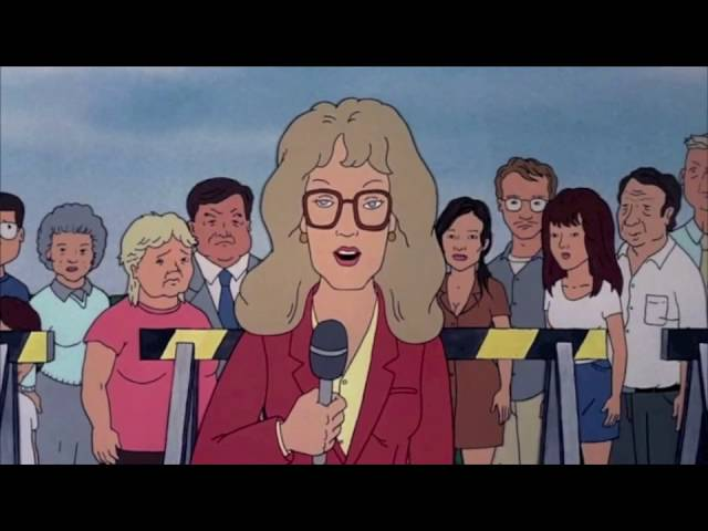 Reporter in Beavis and Butthead Do America