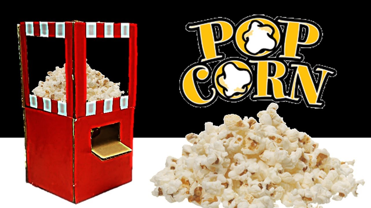 Popcorn Machine From Cardboard Diy