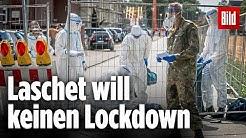 Kein Lockdown nach Corona-Ausbruch bei Tönnies |Armin Laschet über den Kreis Gütersloh