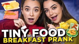 Tiny Food Breakfast Prank - Merrell Twins