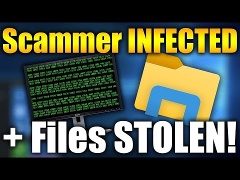STEALING A SCAMMER'S FILES AND INFECTING HIS PC! | Tech Support Scammers EXPOSED!