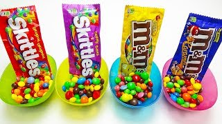 Full of Sweets M&M's & Skittles Johny Johny Yes Papa ABC song Nursery Rhymes