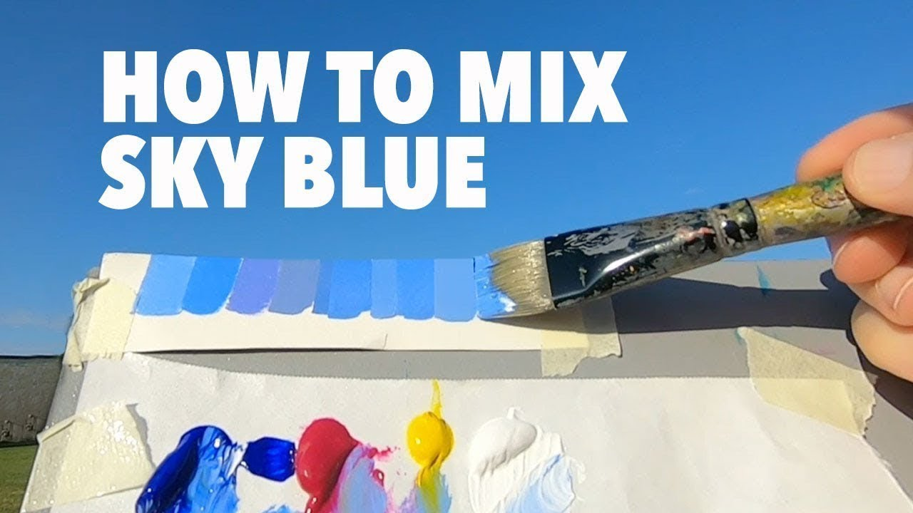 How To Mix Sky Blue Color You