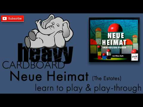 The Estates/Neue Heimat 4p Play-through, Teaching, & Roundtable discussion by Heavy Cardboard