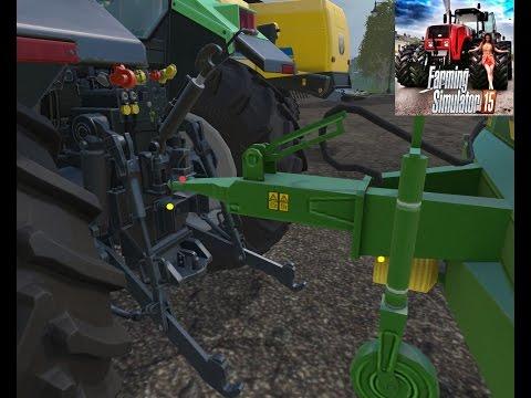 Farming Simulator 15-ручная сцепка агрегатов