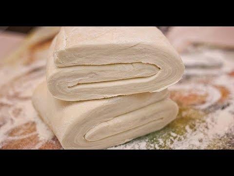 Как делать слоеное тесто в домашних условиях видео
