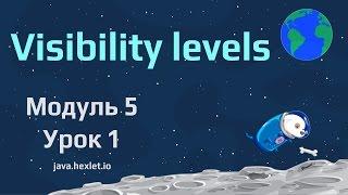 Модуль 5. Урок 1. Уровни доступа в Java.