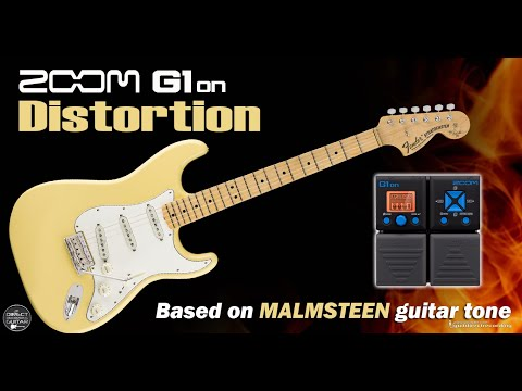 ZOOM G1on MALMSTEEN DISTORTION G1xon - Marshall Simulation.