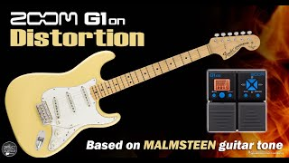 Download Video ZOOM G1on G3 MALMSTEEN DISTORTION G1xon G5 - Marshall Simulation. MP3 3GP MP4