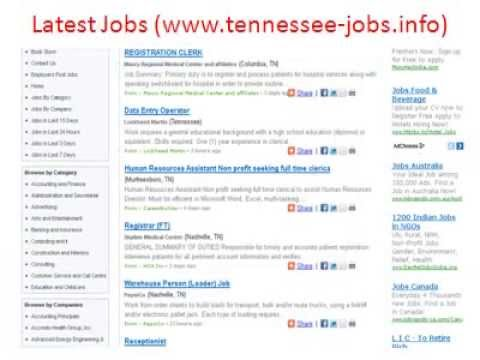 Tennessee Jobs | Jobs in Tennessee | State of Tennessee Jobs