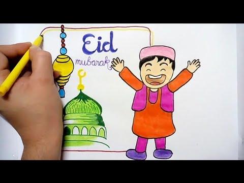 mosque shape in grunge background for eid festival ... |Eid Festival Poster