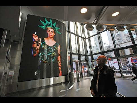 Art on the Big Screen in the NYC Subway